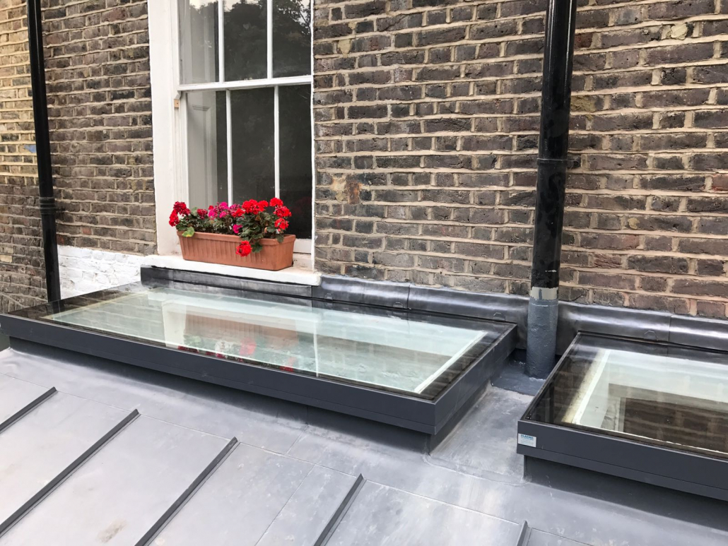 domestic roof lights on london property