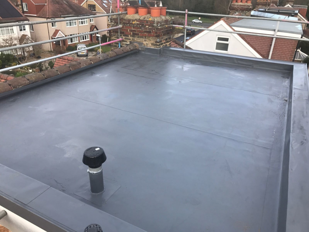domestic flat roof on london property